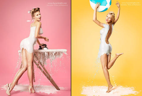 two milk pin-ups