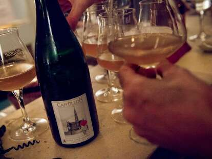 Wine at La Fine Mousse Paris
