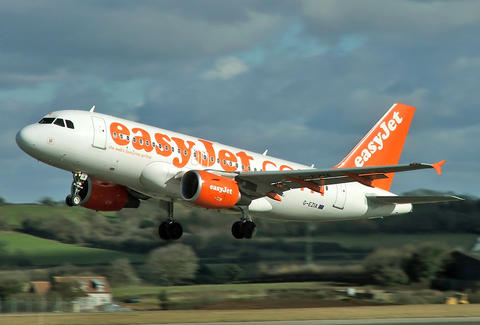 easyJet taking off