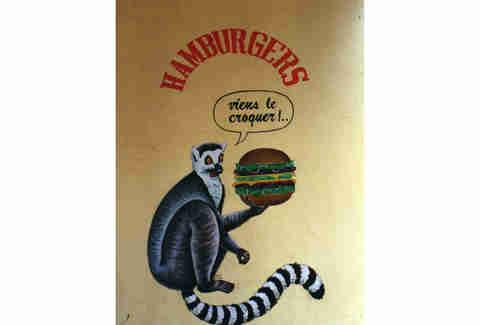monkey burger graffiti