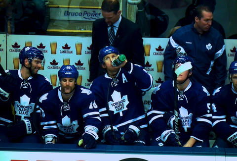 Maple Leafs players in Toronto