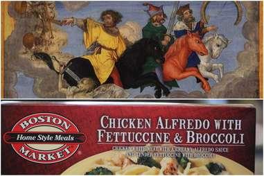 Boston Market's Chicken Alfredo with Fettucine and Broccoli