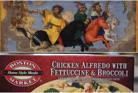 Boston Market's Chicken Alfredo with Fettucine and Broccoli