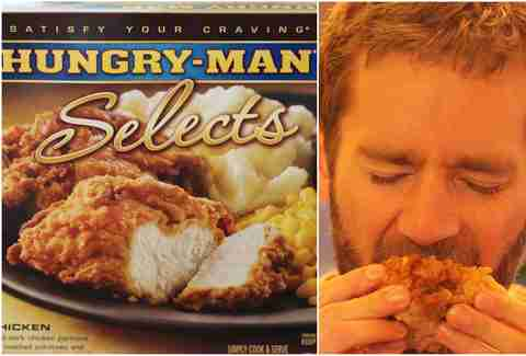 Hungry-Man fried chicken dinner