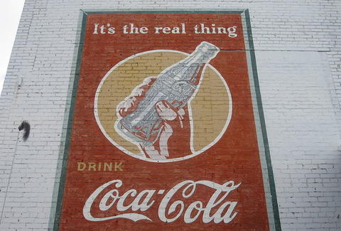 Coke wall art