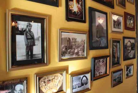Wall of commemorative pictures