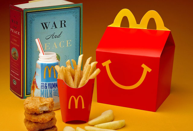 McDonald\'s Happy Meals are ditching Hot Wheels for books. BOOKS!!
