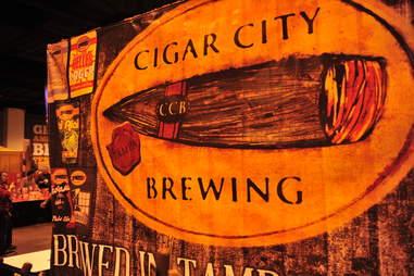 Cigar City Brewing beer sign