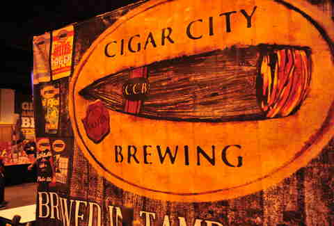 Cigar City Brewing beer sign