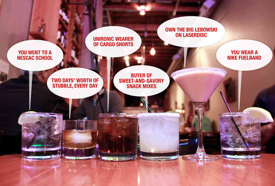 What Your Drink Says About You - Cocktail Drinkers