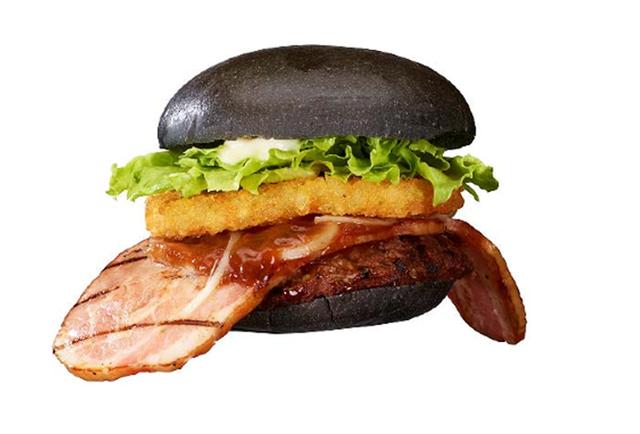 Burger King Japan\'s new Black Ninja Burger has a creepy bacon tongue, naturally