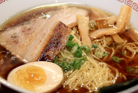 Bowl of ramen with pork and egg