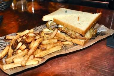 Fried Chicken Sausage Sandwich The Petworth Citizen Washington DC