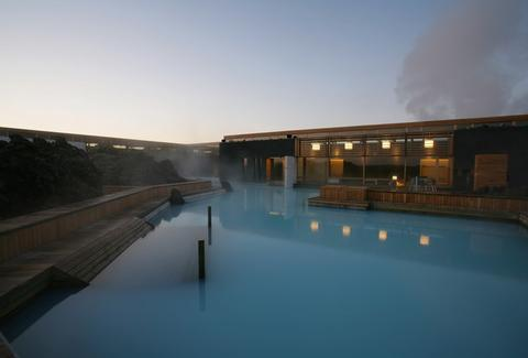 Blue Lagoon pool spa