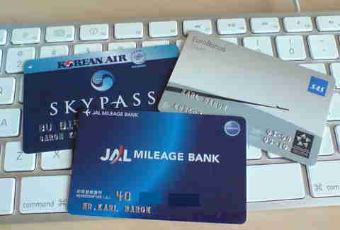 Frequent flyer cards