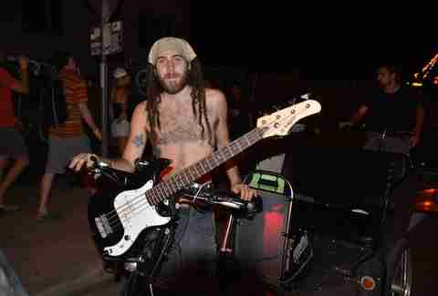 Bassist Pedicabs ACL Austin
