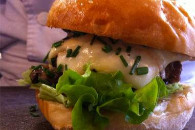 Burger at Le Refectoire Paris