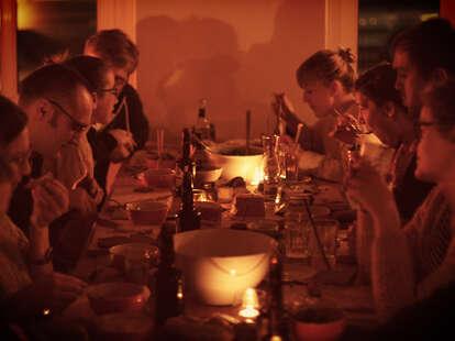 People eating at List Berlin