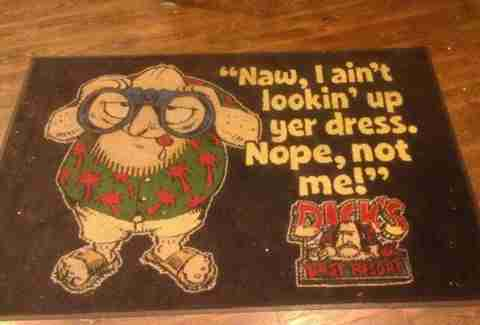 Dick's Last Resort doormat