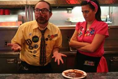 Ed Debevic's pie eater