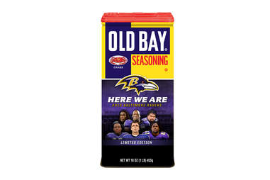 Old Bay Ravens tin