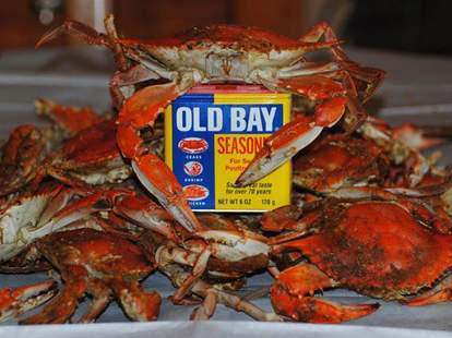 Old Bay seasoning crabs