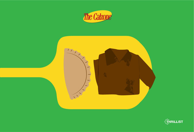 Visual depictions of important Seinfeld foods that won\'t make you thirsty