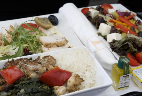 Turkish Airlines in-flight meal