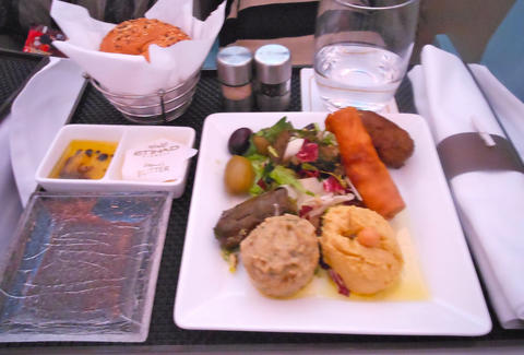 meal onboard Etihad Airways