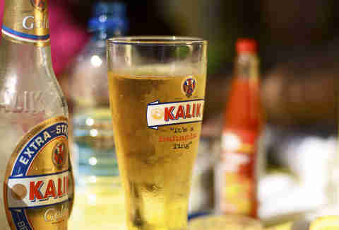 Pint of Kalik beer