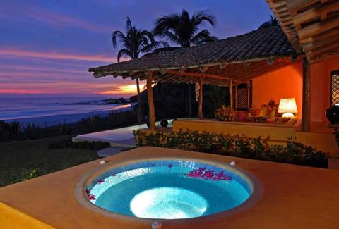 Las Alamandas resort cabana with hot tub