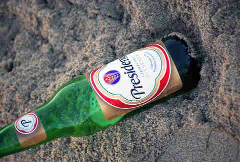 Bottle of Presidente Beer