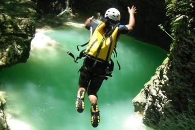 Canyoning in Ciguapa Falls Dominican Republic