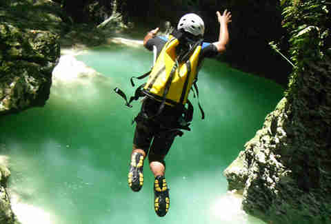 Canyoning in Ciguapa Falls Dominican Republic