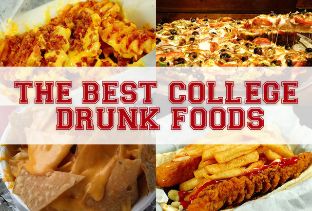 The best college drunk foods at the 25 best party schools