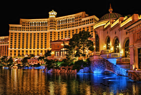 Bellagio at night