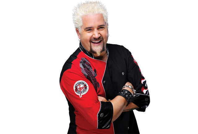 Guy Fieri actually wins a NY Wine & Food Fest award, for his mac & cheese burger