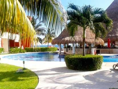 Temptation pool and cabana