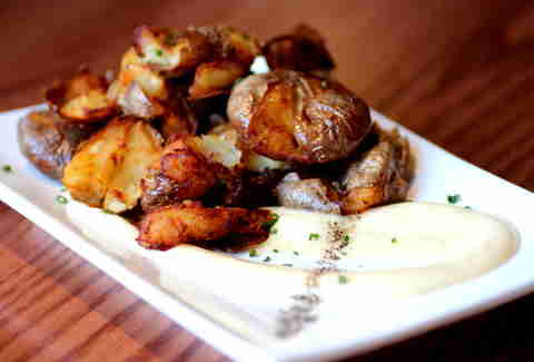Smashed potatoes at Umami