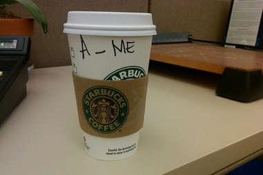 Misspelled Starbucks Amy