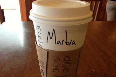 Misspelled Starbucks Barbara