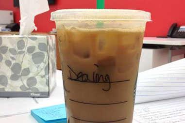 Misspelled Starbucks Dylan