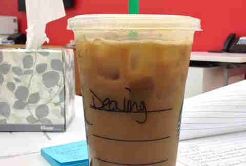 Misspelled Starbucks Dylan
