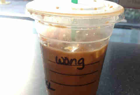 Misspelled Starbucks Juan
