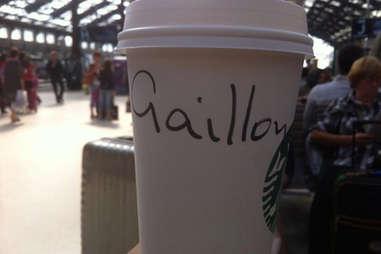 Misspelled Starbucks Kyle