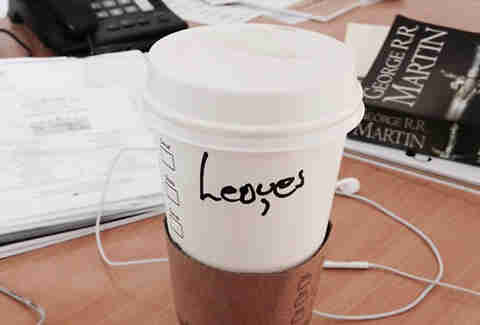 Misspelled Starbucks Louis