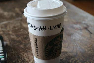 Misspelled Starbucks Madeline