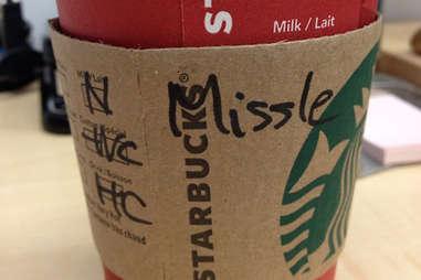 Misspelled Starbucks Michelle