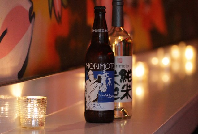 Morimoto\'s bistro is filled with amazing burgers and whisky