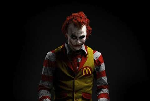 heath ledger joker ronald mcdonald